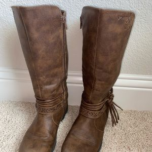 Long Brown boots-Justice Size Kids 3.5